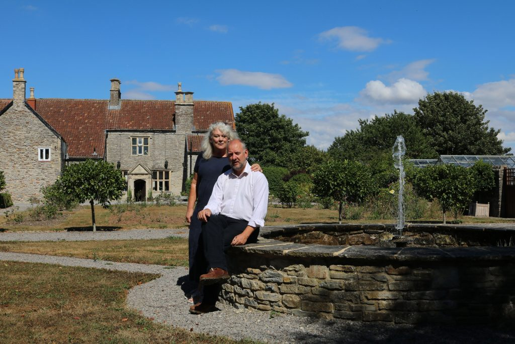 Old Church Farm owners Christopher & Kate Trim outside Old Church Farm