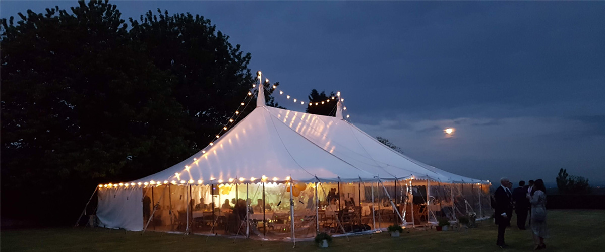 wedding marquee near Bristol at Old Church Farm