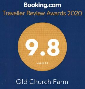 Booking.com traveller review award for our score of nine point eight out of ten